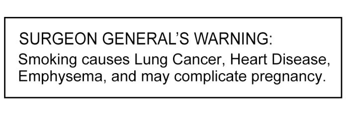 Surgeon Generls Warning