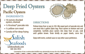 Salish Seafoods deep fried oysters recipe